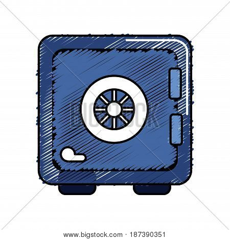 strongbox close to security of special thing, vector illustration