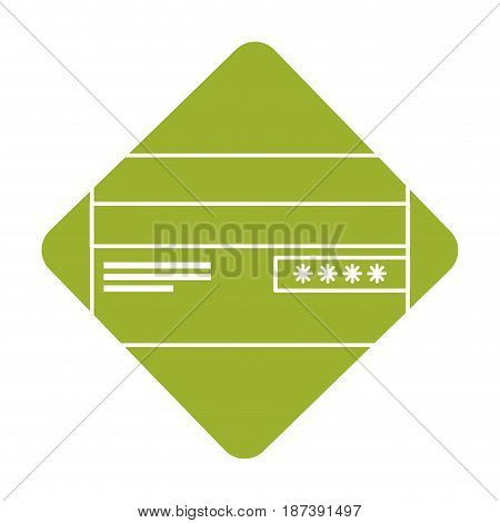 label credit card financial and security transaction, vector illustration