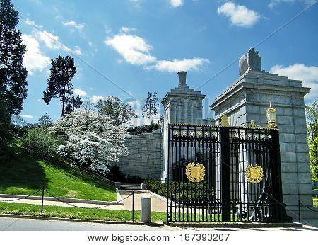 Schley Gate in Arlington National Cemetery Arlington Virginia USA