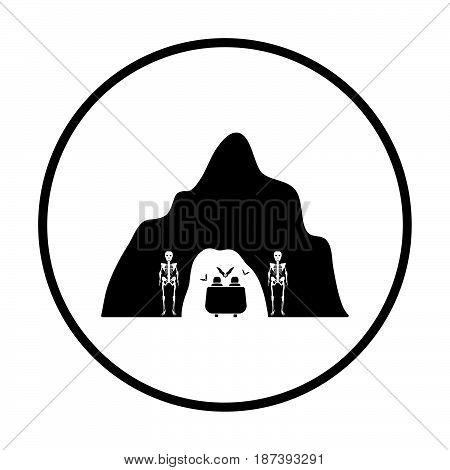 Scare Cave In Amusement Park Icon