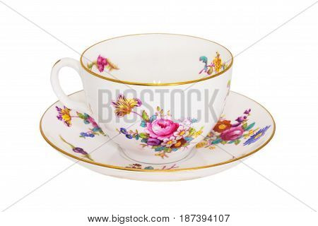 Antique fine china tea cup and saucer.