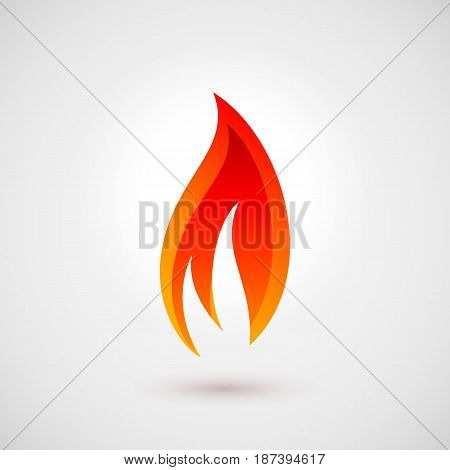 Abstract Symbol of Fire flames. Logo Design Template. Simple Illustration Pictogram