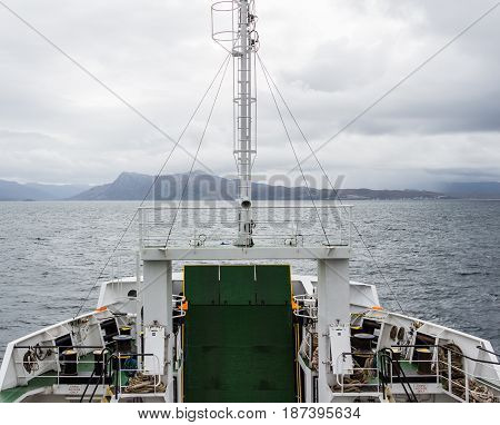 Car Ferry Crossing Between Armadale And Mallaig, Scotland