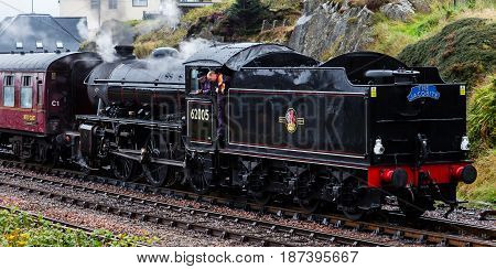 The Jacobite Steam Locomotive Departing Mallaig