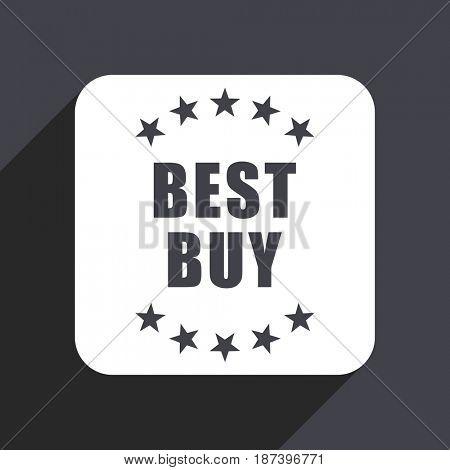 Best buy flat design web icon isolated on gray background