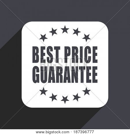 Best price guarantee flat design web icon isolated on gray background