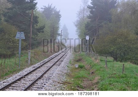 unique historic narrow-gauge railway. South Bohemia Czech Republic