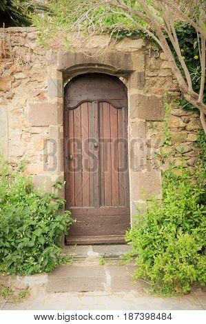 Door In An Ancient Village In Europe