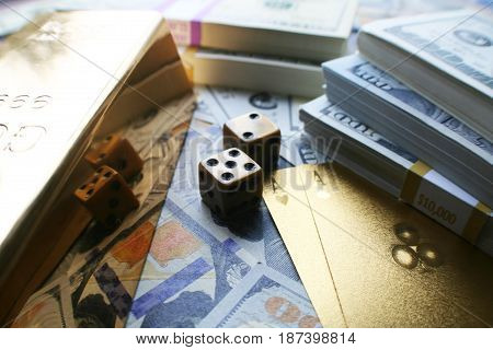 Money And Poker High Quality Stock Photo