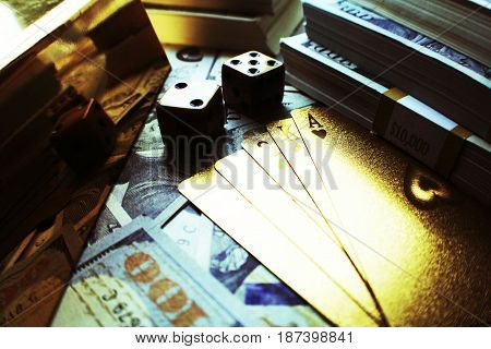 Poker Background High Quality Close Up Stock Photo