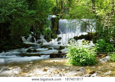 Mountain river spring of the river Vrelo near the city of Perucac, Serbia