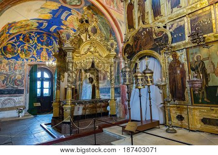 Inside The Cathedral Of The Nativity Of The Virgin, Suzdal, Russia