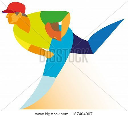 A young baseball player is a Pitcher who throw a ball