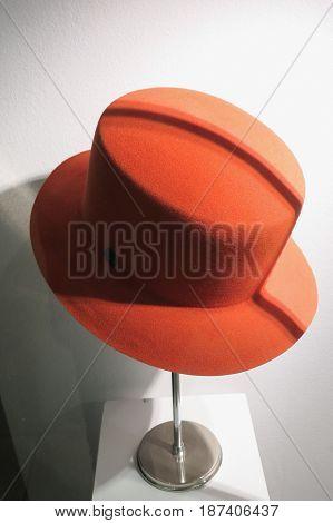 Orange Hat On Display