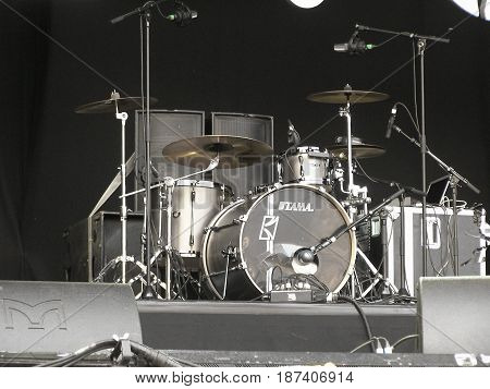 Drum Kit On Stage In Ghent