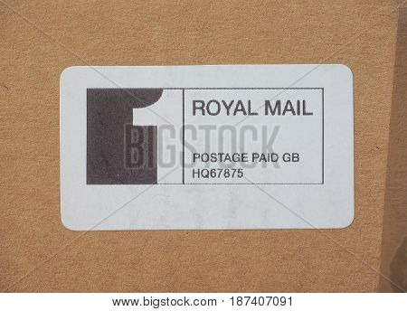 Royal Mail Postage Paid