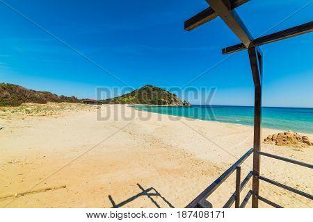 Cala Monte Turno shoreline in spring. Sardinia Italy