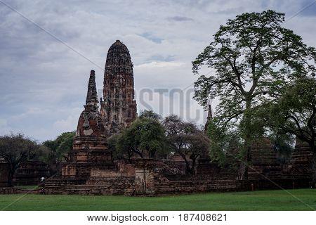 Wat Phra Ram Temple in Ayuthaya Historical Park Thailand