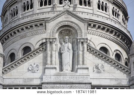 Paris. Basilica of Sacre Coeur in Montmartre. Finishing details