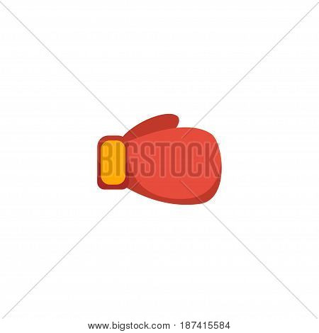 Flat Gloves Element. Vector Illustration Of Flat Boxing  Isolated On Clean Background. Can Be Used As Boxing, Gloves And Worn Symbols.