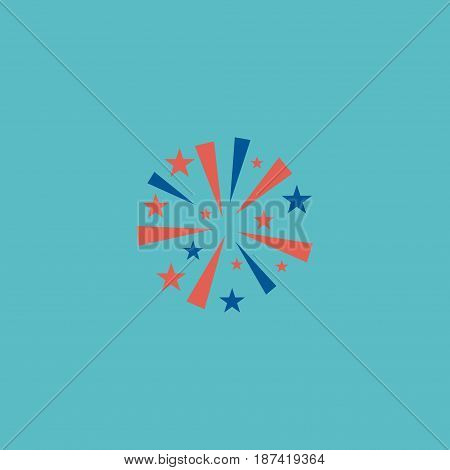 Flat Firework Element. Vector Illustration Of Flat Firecracker Isolated On Clean Background. Can Be Used As Firecracker, Firework And Sparklers Symbols.