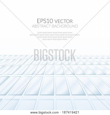 Abstract background with floors of glass fragments. Image in perspective. Point of view. Space for text.