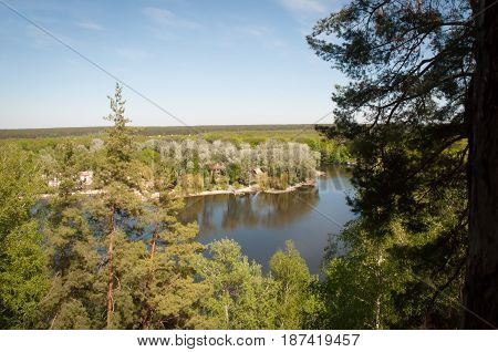 A view from above of the bends of the Seversky Donets River. Region of Kharkov.