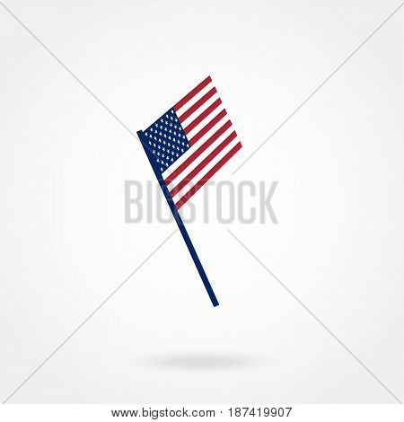 American Flag, Vector illustration. on a white background