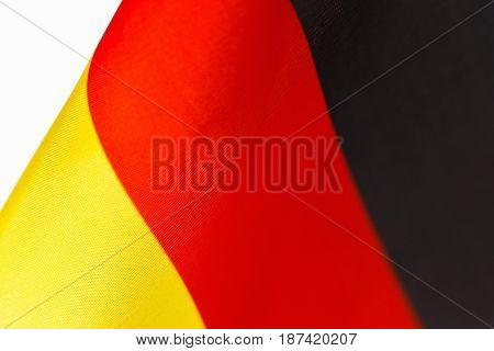 Germany flag background close-up. Star-striated american banner