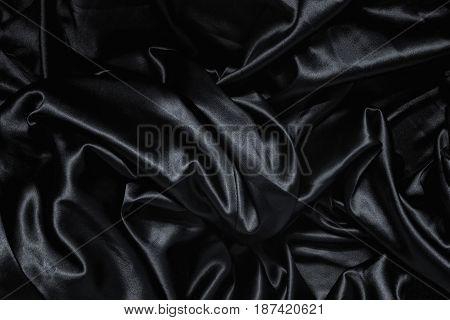 Texture Of A Black Silk