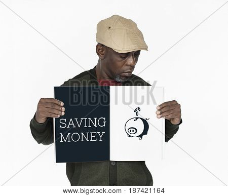 Saving Money Finance Piggy Bank Graphic Concept