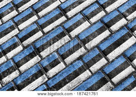 Estonia Flag Urban Grunge Pattern