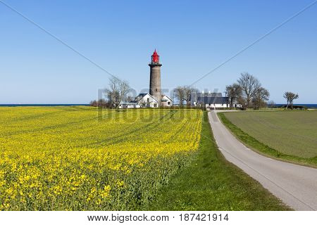 Lighthouse near Grenaa at the Kattegat, Danish Baltic Sea coast