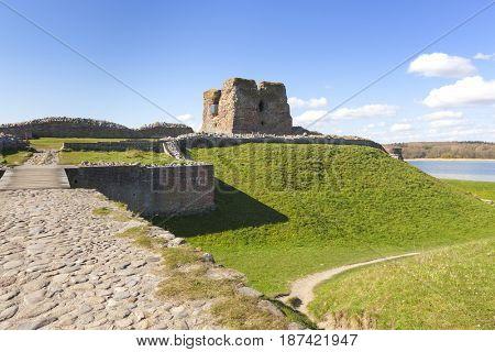 Kalo castle ruins at Mols Bjerge National Park, Djursland, Jutland, Denmark