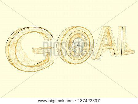 target. Abstract target flat design icon illustration
