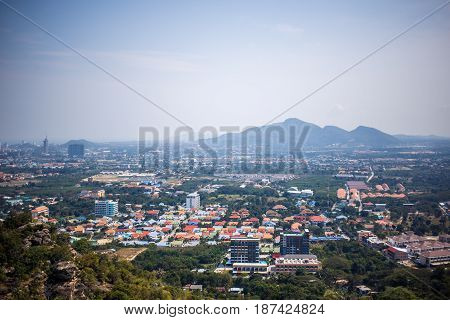 View of the city from the view point of Hua Hin, Thailand