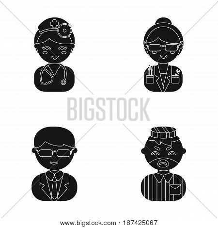 Doctor, scientist, businessman, prisoner.Profession set collection icons in cartoon style vector symbol stock illustration