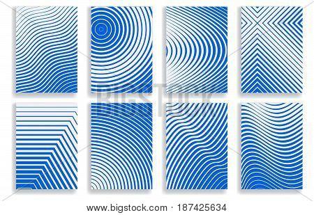 Set Of Covers. Halftone Geometric Design