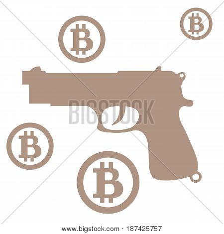 Picture About Transactions In Bitcoin: Bitcoins And Gun