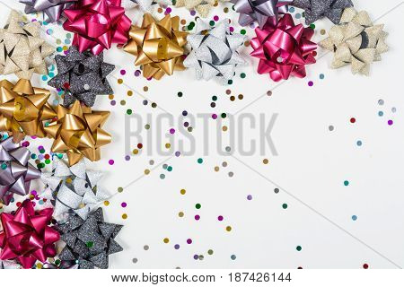 Christmas Bows With Confetti