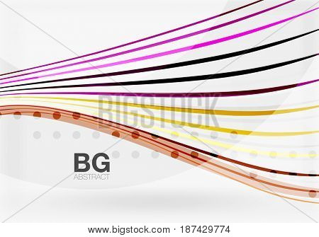 Modern wave lines, elegant wave abstract background. template background for workflow layout, diagram, number options or web design