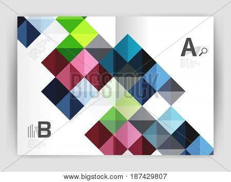 square minimalistic abstract background, print template business brochure a4. template background for print workflow layout, diagram, number options or web design banner