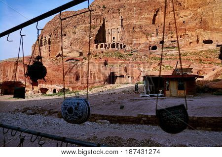Architecture of the ancient city of Petra Jordan