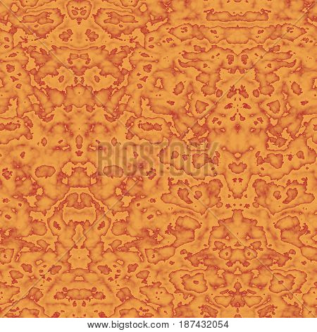 Seamless Abstract Pattern In Orange And Red Tones