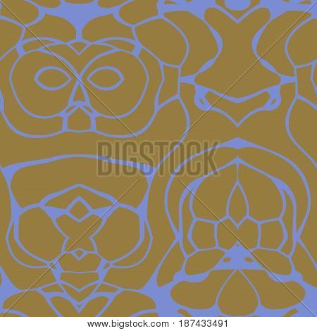 Seamless Abstract Pattern In Blue And Yellow Tones