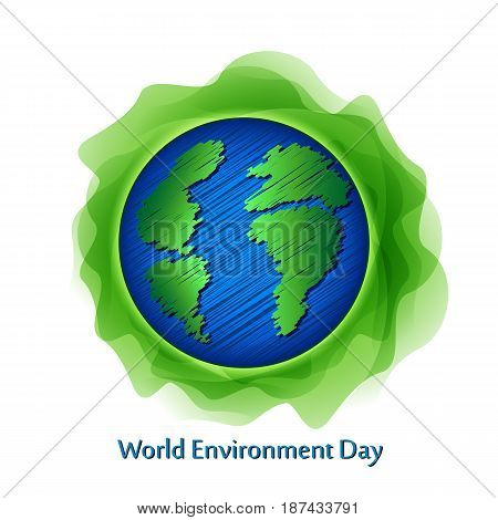 World environment day sign on white background. Vector illustration.