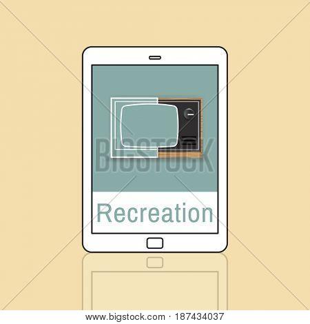 Illustration of recreation media entertainment TV