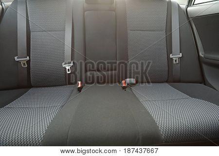 Car backseat with sunlight flare