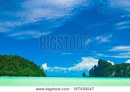 Sea Rocks Lagoon Mountains