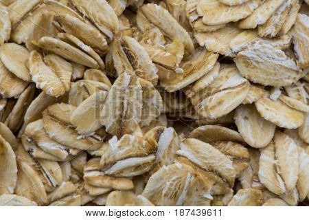 Close Up of Old Fashioned Oats Background Image